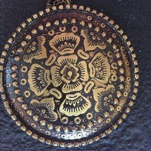 Vintage Brass Medallion